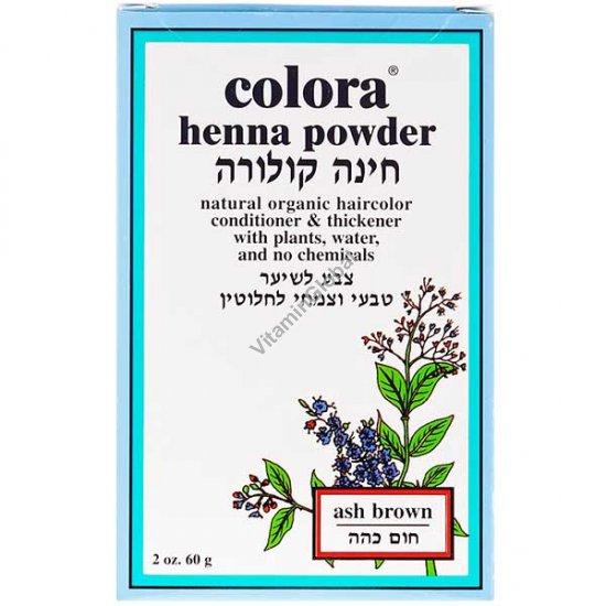 Хна для волос цвет темно-коричневый 60 гр - Colora