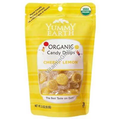 Органические лимонные леденцы 93.5 гр - YumEarth