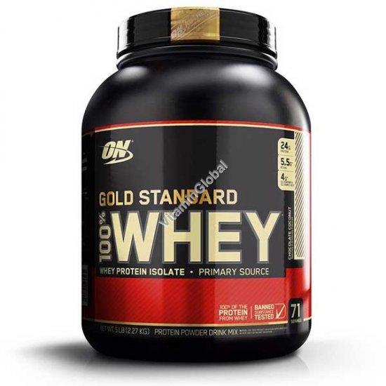 Золотой стандарт - 100% сывороточный протеин со вкусом шоколада и кокоса 2.270 гр - Optimum Nutrition