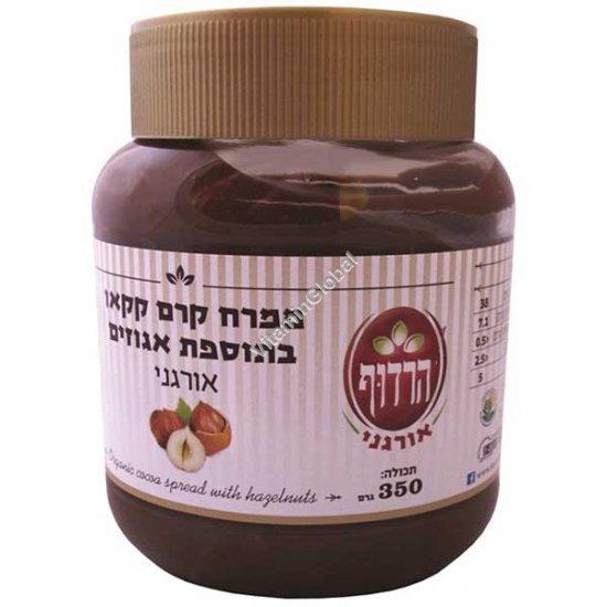Органическая шоколадная какао паста с лесными орехами 350 гр - Harduf