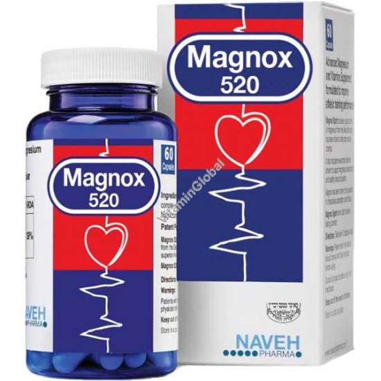 Magnox 520 - магний комплекс 520 мг 60 растительных капсул - Naveh