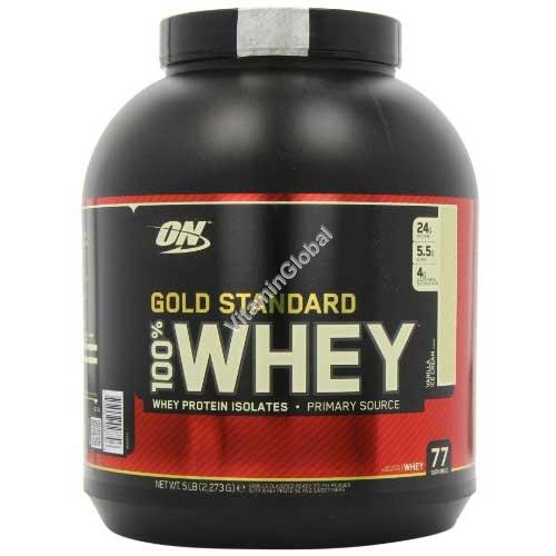 Золотой стандарт - 100% сывороточный протеин со вкусом ванили 2.270 гр - Optimum Nutrition