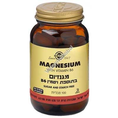 Магний + В 6 100 таблеток - Солгар
