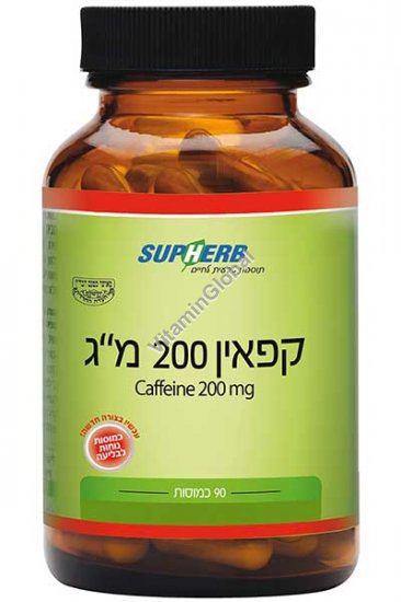 Кофеин 200 мг 90 капсул - SupHerb