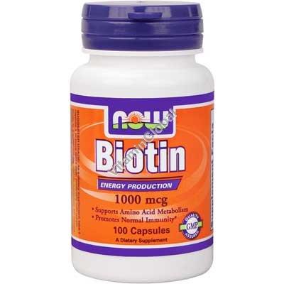 Биотин 1000 мкг 100 капсул - Now Foods