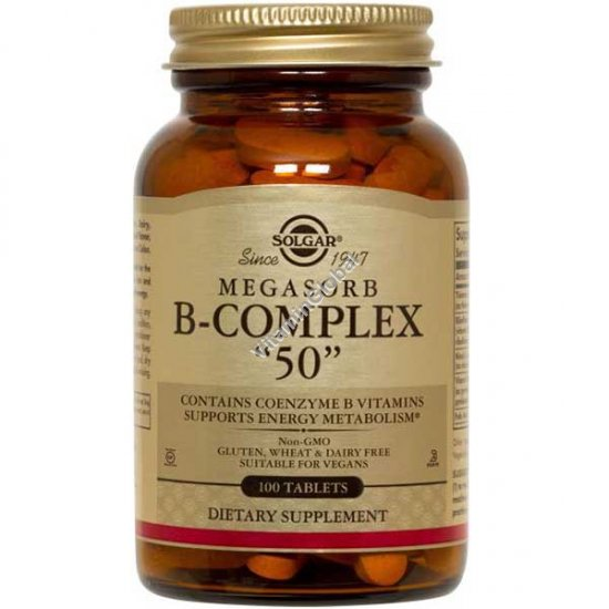 Мегасорб В комплекс 50 мг 100 таблеток - Солгар