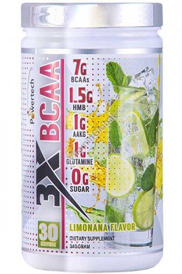ВСАА в порошке с лимонно-мятным вкусом 340 гр - PowerTech