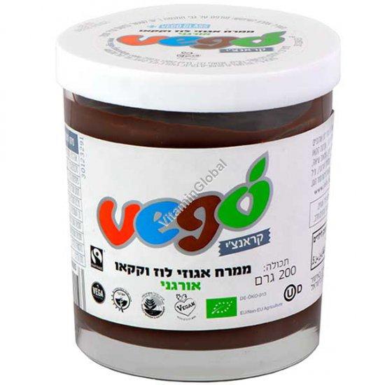Органическая паста из лесного ореха и какао 200 гр - Vego