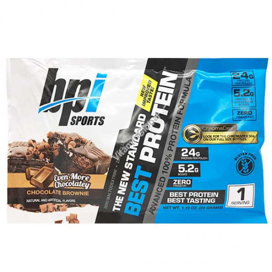 Бест протеин вкус шоколадные брауни 1 порция (34 гр) - BPI Sports