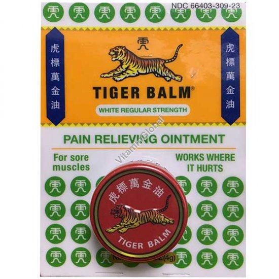 Тигровый бальзам белый - обезболивающая мазь 4 гр - Tiger Balm