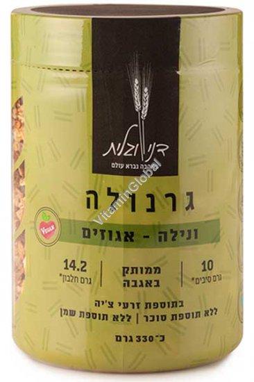 Гранола - смесь цельных зерновых хлопьев с ванилью и орехами, без добавления сахара 330 гр - Дани и Галит