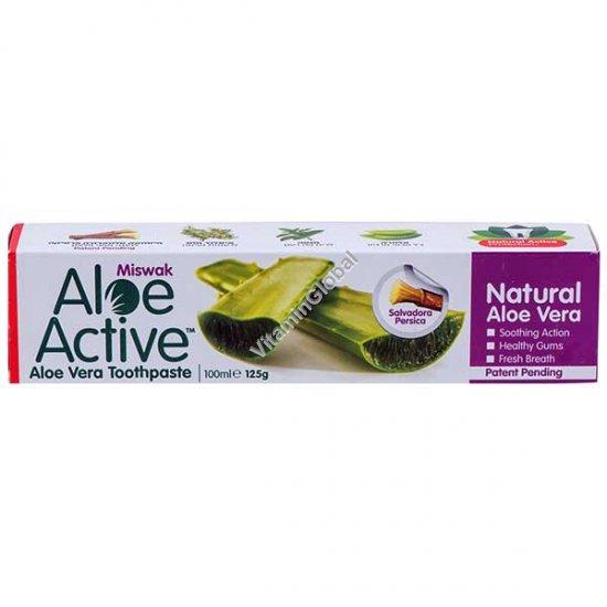 Натуральная зубная паста с алоэ вера и мисвак 100 мл - Aloe Active