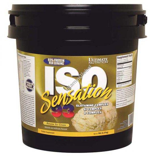 Протеин изолят Изо Сенсейшен вкус банановое мороженое 2.27 кг - Ultimate Nutrition