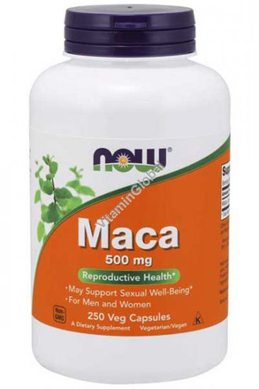 Мака 500 мг 250 капсул - Now Foods