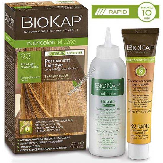 Стойкая краска для волос, цвет очень светлый золотой блонд 9.3 - БиоКап