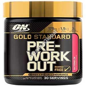 Предтренировочная добавка Gold Standard Pre-Workout со вкусом арбуза 300g - Optimum Nutrition
