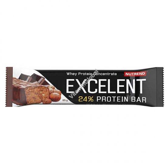 Протеиновый батончик со вкусом шоколада с орехами и покрытием молочным шоколадом 85 гр - Nutrend