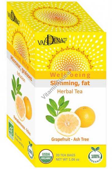 Диетический чай грейпфрут и морские водоросли 20 фильтр-пакетиков - Valdena