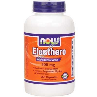 Сибирский женьшень (элеутерококк) 500 мг 250 капсул - NOW Foods