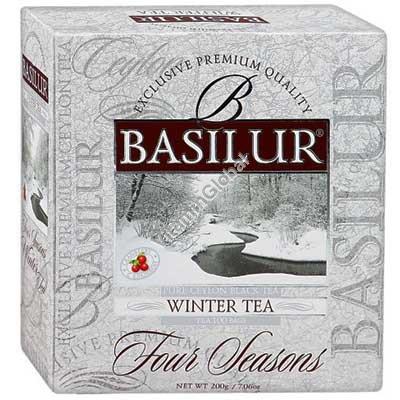 """""""Зимний чай"""" - цейлонский мелколистовой черный чай с клюквой 100 пакетиков - Basilur"""
