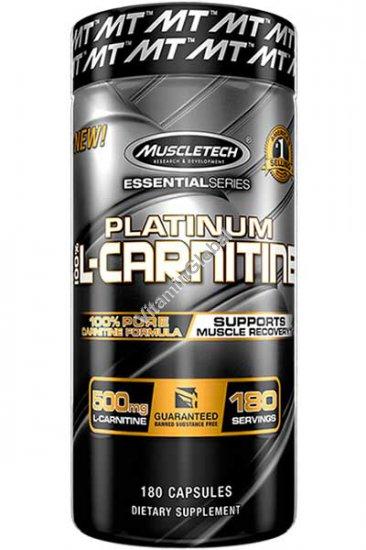Л-карнитин платинум 500 мг 180 капсул - Muscletech