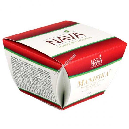 Питательный, увлвжняющий крем для лица с грибами Майтаке 50 мл - Нава