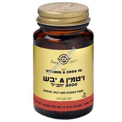 Витамин А 5 000 Ед. сухой 100 таблеток - Сольгар