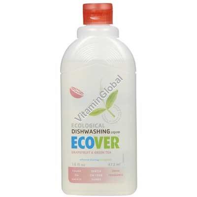 Эко жидкость для мытья посуды с грейпфрутом и зеленым чаем 1 литр - Ecover