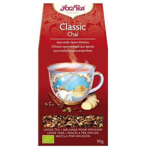 Органический аюрведический чай - Классик с корицей, кардамоном и имбирем 90 гр - Yogi Tea