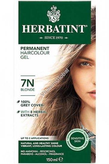 Краска для волос блонд 7N - Гербатинт