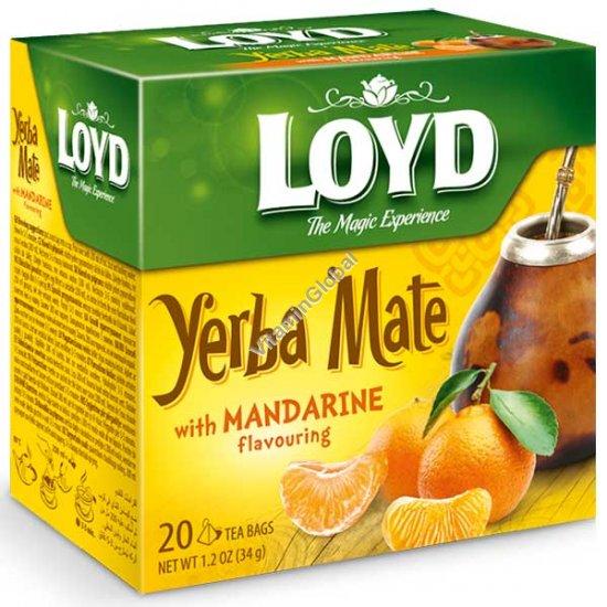 Чай Герба Мате с мандарином 20 фильтр-пакетиков пирамид - Loyd