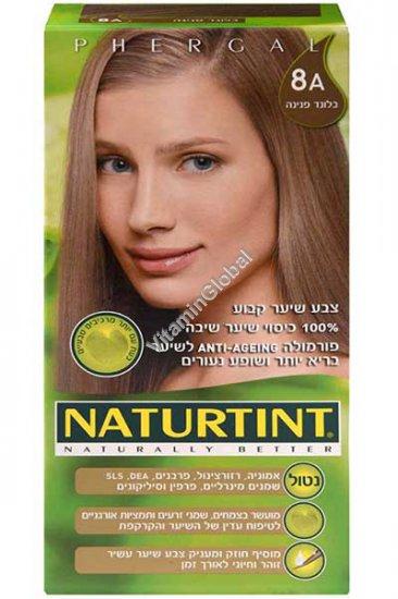Стойкая краска для волос, цвет пепельный 8А - Натуртинт