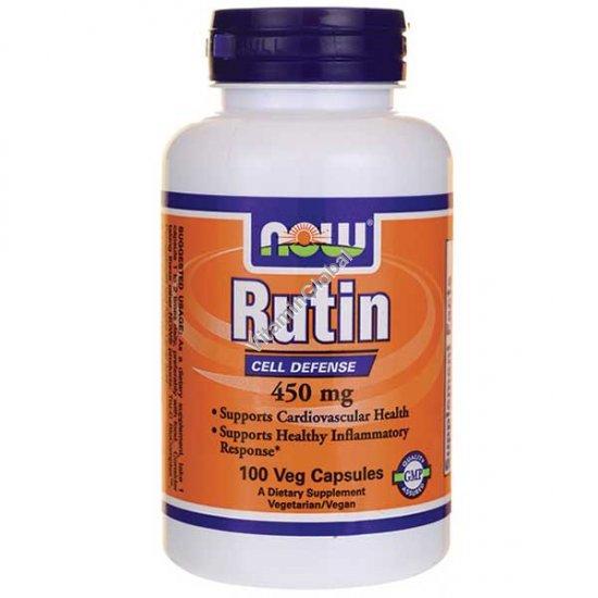 Рутин 450 мг 100 капсул - NOW Foods