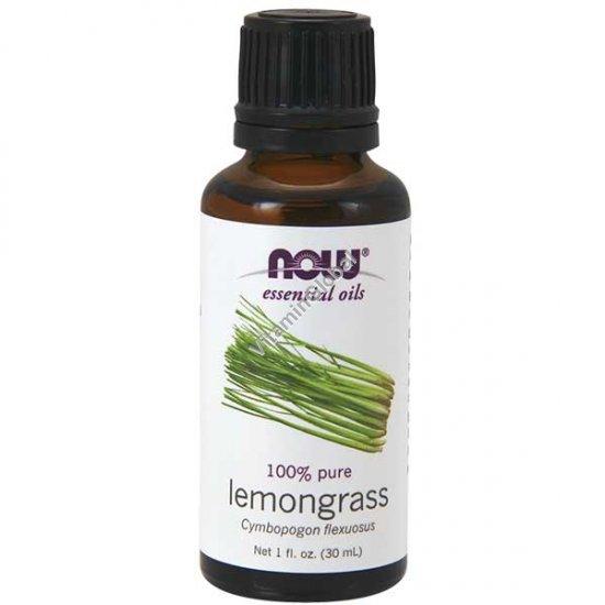 Эфирное масло лемонграсс 30 мл - Now Essential Oils