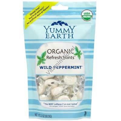 Органические мятные леденцы 93.5 гр - Yummy Earth