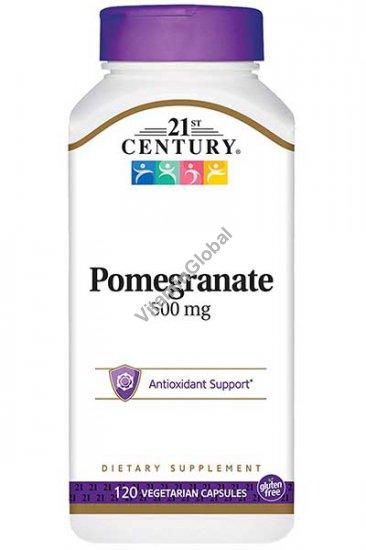 Гранатовый экстракт 500 мг. 120 капсул - 21st Century