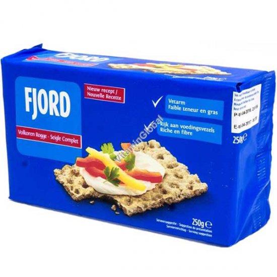 Натуральные хлебцы из цельнозерновой ржаной муки 250 гр - Fjord