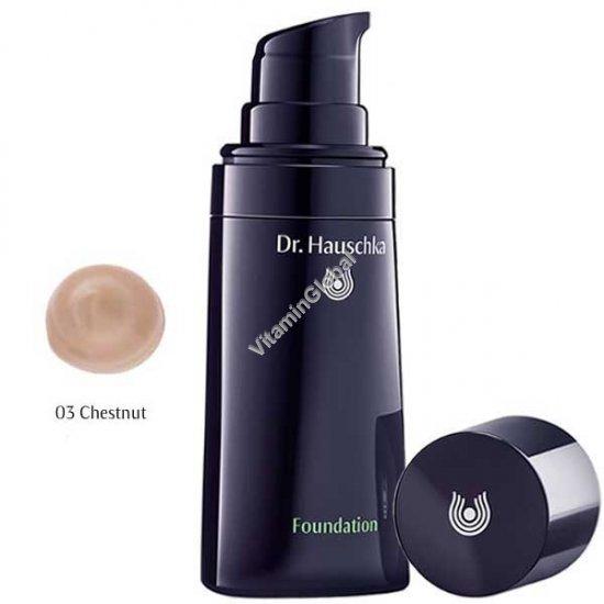 Крем тональный для кожи лица, тон 03 средний (оттенок каштановый) 30 мл - Доктор Хаушка