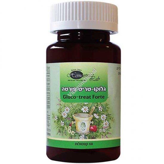 Gluco-Treat Forte для нормализации уровня сахара 60 капсул - Homeotreat Lab