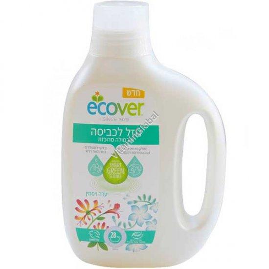 Концентрированнное жидкое средство для стирки с запахом жимолости и жасмина 850 мл - Эковер