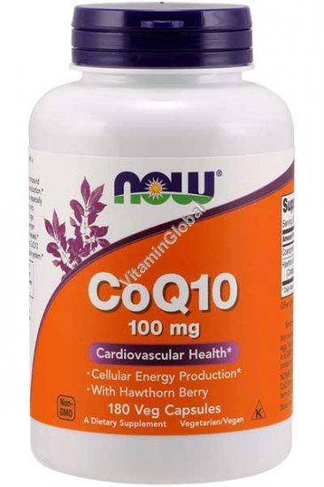 Коэнзим 100 мг с боярышником 400 мг 180 капсул - Now Foods