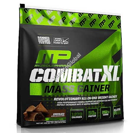 Комбат XL Масс гейнер вкус шоколадный 5.44 кг - MusclePharm