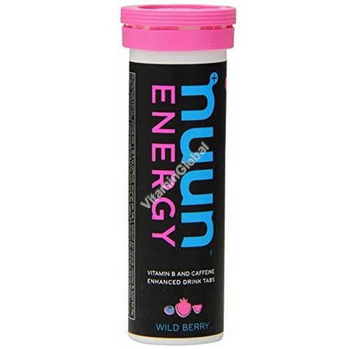 Растворимые таблетки для приготовления напитка-электролита с кофеином, вкус лесных ягод 10 таблеток - Nuun Energy
