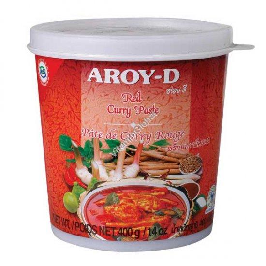Красная карри паста 400 гр - Aroy-D