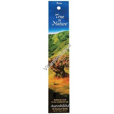 Индийские благовония роза 16 палочек - Auroshikha