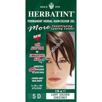 Краска для волос светло-золотисто-каштановый цвет 5D - Herbatint