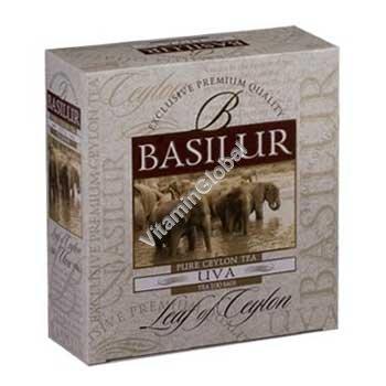 Цейлонский черный чай UVA 100 пакетиков - Basilur
