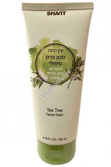 Лечебное жидкое мыло для лица с экстрактом чайного дерева 200 мл - Шавит