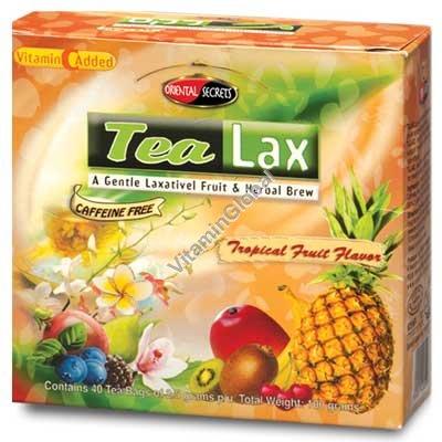 Чай от запоров Тилакс со вкусом тропических фруктов 40 фильтр-пакетиков - Oriental Secrets