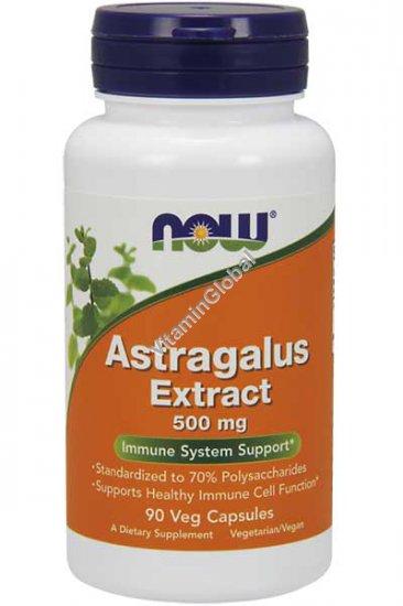 Экстракт корня астрагала 90 растительных капсул - Now Foods